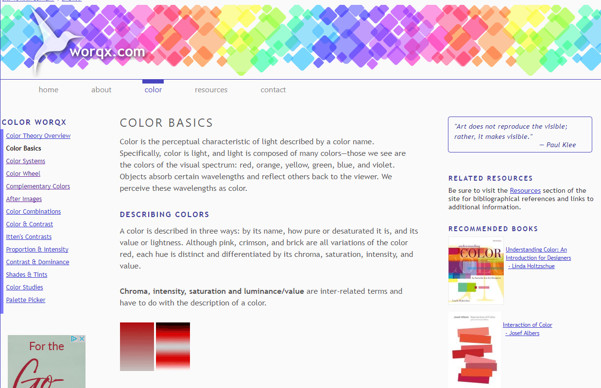 Basics Of Color Theory 10 best online tutorials on color theory - web design degree center